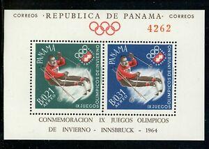 Panama Scott #447Gh MNH S/S OLYMPICS 1964 Innsbruck Michel BL #14 CV$18+