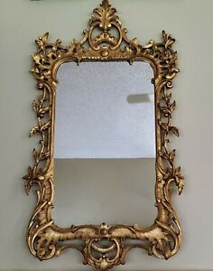 Antique 1930s D Milch & Sons Stunning Massive Large Gilt Mirror ART 25x46 Inch
