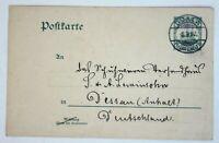 36522a Stationery Colonies Cameroon P14 Duala - Dessau Postcard Bedarfspost 1909