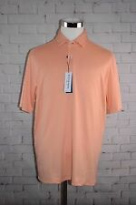 "Mizzen + Main ""YOSEMITE""  Peach Parfait Polo Short Sleeve Sz XLarge MSRP $80.00"