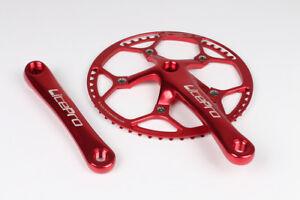 Litepro Road Folding Bike crank arm 170mm Crankset Chainring 45/47/53/56/58T Red