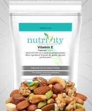 La vitamina E 1000mg Antioxidante Salud Inmune cápsula Piel Suplemento nutrivity UK