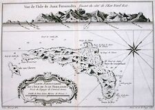 Antique map, Carte Particuliere De L'Isle de Juan Fernandes
