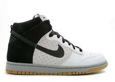 2008 Nike Dunk High Premium SZ 10.5 White Black Medium Grey SB Gum 317982-101