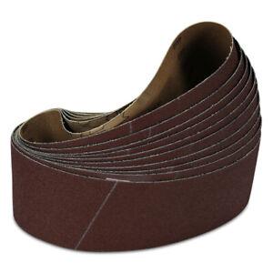 "3"" x 18"" Inch 120 Grit Aluminum Oxide Sanding Belt Kit Metal or Wood - 10 Pack"