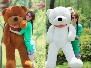 "63"" 160cm Giant big Sleepy teddy Bear CASE NO PP COTTON Huge Stuffed Toys doll"