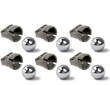 LEGO Technic NEW 6 STEEL BALL + 6 STEERING JOINT SOCKET pivot Caster 92911 99948