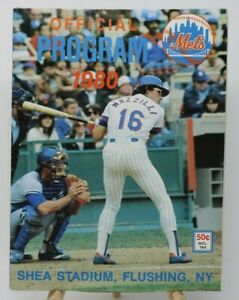 New York Mets Official Baseball Program 1980 Shea Stadium NO RESERVE