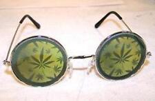 MULTIPLE POT LEAF HOLOGRAM SUNGLASSES novelty glasses hippie festival MARIJUANA