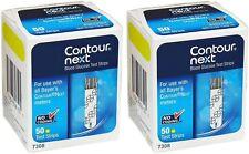 100 ( 2 x Boxes of 50 ) Contour Next Blood Glucose Test Strips Exp 1/31/2022