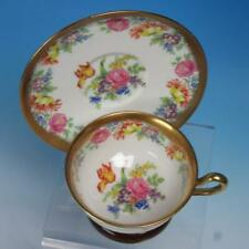 Royal Chelsea English Bone China - Gold and Flowers - Tea Cup and Saucer