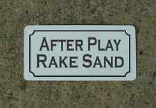 AFTER PLAY RAKE SAND Metal Sign Classic Style Golf Course or Country Club