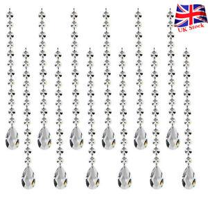 12pc Crystal Garland Decorations Acrylic Hanging Bead Curtain Wedding Club Party