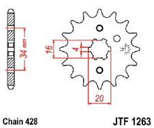 JT Sprockets Steel Front Sprocket 15T 428 Pitch JTF1263.15
