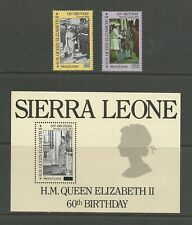 SIERRA LEONE 1986  Queens 60th Birthday Surcharges   umm / mnh