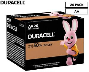 Duracell Coppertop AA Battery 20-Pack - NEW FREE SHIPPING