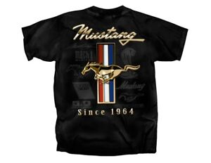 Ford Mustang - Golden GT Tribar T-shirts - 5.0. Boss, Tribal Pony Emblem