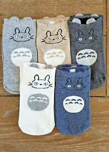 Japanese Cartoon Character Totoro Cute Socks 5 in 1 Set