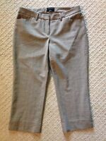 Women's The Limited Drew Fit Brown Check Cropped Wool Blend Pants-Size 4