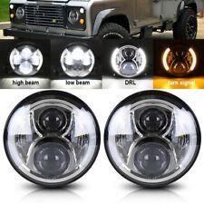 2Pcs 7inch Led Headlight Kit Hi/Lo Beam Turn Signal DRL Assy for Hummer H1 H2