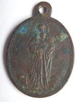 Antica medaglia votiva religiosa NOSTRA SIGNORA S. CUORE DI GESU' PREGATE