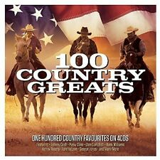 100 Country Greats - 4 DISC SET - 100 Country Greats (2017, CD NEUF)