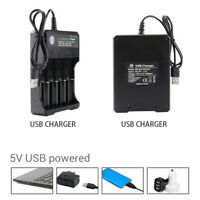 Hot 4 Slots Battery Charger Smart Charging For 18650 Rechargeable Li-Ion Battery