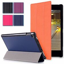 Slim Leather Folio Smart Case Stand For Amazon Kindle Fire HD 10 2015 Tablet