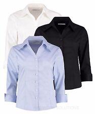 Kustom Kit Ladies' 3/4 Sleeve Corporate Oxford Shirt Womens Open Collar (KK710)