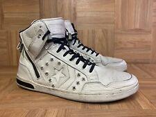 RARE🔥 Converse John Varvatos Weapon Hi White Ivory Leather Studs Sz 10.5 142968