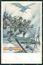 Militari Reggimentali 94º Reggimento Fanteria Pisani cartolina XF5698