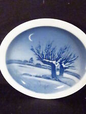 Royal Copenhagen Butter Dish Or Ashtray Snowy Trees At Night
