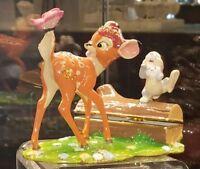 NEW Disney Parks ARRIBAS Bros Jeweled Thumper & Bambi Hinged Trinket Box Figure