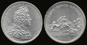 ^^EXCESSIVELY RARE^^ 1720 FRENCH ALUMINUM JETON > NEAR UNC BEAUTY !! NO RESERVE