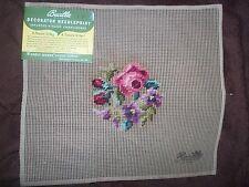 "Vintage ""NEW"" Bucilla Decorator Needlepoint Roses  #20003 Size 11x12"