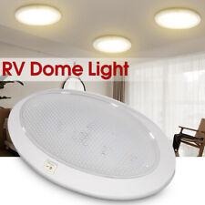 LED 12V White Pancake Light RV Caravan Trailer Boat Interior Ceiling Dome Lamp