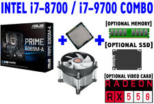 Intel i7-8700 i7-9700 CPU+ASUS PRIME B365M-A Motherboard+RX 550+SSD+DDR4+COMBO