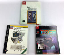LOT of 3 Discovering Computer Concepts Data Communications & Networks Text Books