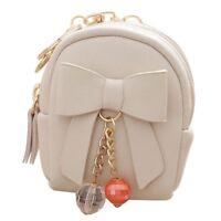 New Women Mini Backpack Shape Coin Bag Pouch Purse Key Holder(white) N5Z4