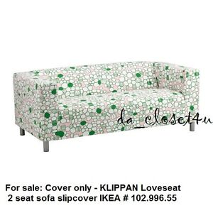 Ikea Cover Klippan 2 seat Loveseat Couch Sofa Marrehill Pink Green 102.996.55