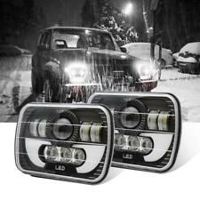 """2X 7""""x6"""" LED Headlight Sealed Beam Square Headlamps for Toyota Pickup Truck"""