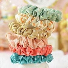10pcs Elastic Polka Dot Print Hair Band Rope Scrunchie Ponytail Holders UK
