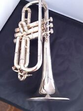 "HOLTON ""SHEPHERD'S CROOK"" CORNET, SILVER-PLATED!"