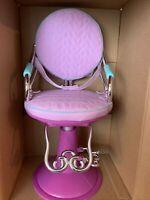 "AG03- 18"" Doll OG Hair Stylist Chair Battat Lavender/Pink FITS American Girl"