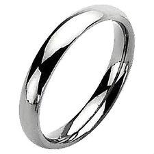 Plain Highly Polished 5mm TITANIUM Wedding RING BAND, size 10