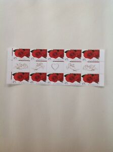 1999 - Australia - Greetings Romance Red Roses Gutter Strip MNH