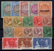 P131892/ ANTIGUA / BRITISH COLONY / LOT 1903 - 1937 MINT MH - CV 110 $