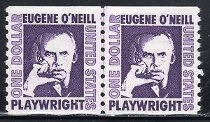 Sc# 1305C $1.00 Eugene O'Neill (1973) MNH SG Joint Line Pair SCV $9.50