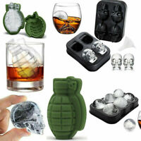 Grenade Skull 3D Shape Ice Cube Mold Maker Party Silicone Trays Chocolate Mold