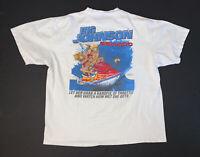 Vintage 90s Big Johnson T-Shirt Size Men's 2XL White Humor Comedy Tee
